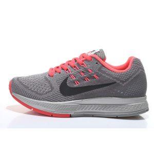 евтини nike air zoom structure 18 дамски обувки за бягане червено сиво на едро
