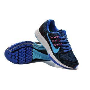 евтини nike air zoom structure 18 дамски обувки за бягане кралско синьо черно за продажба