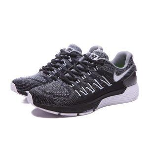 евтини nike air zoom structure 20 мъжки обувки за бягане черно сиво аутлет