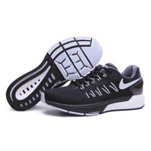 евтини nike air zoom structure 20 мъжки обувки за бягане черно бяло сиво на едро