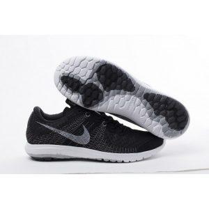 евтини nike flex series мъжки обувки за бягане черно бяло за продажба