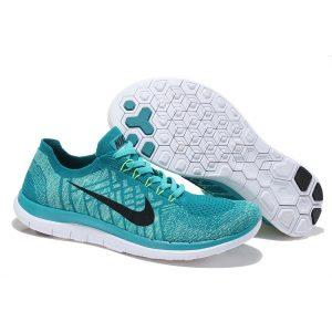 евтини nike free 3.0 flyknit мъжки обувки за бягане черно синьо за продажба