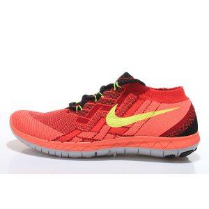 евтини nike free 3.0 flyknit мъжки обувки за бягане червено оранжево за продажба