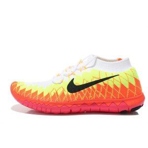 евтини nike free 3.0 flyknit мъжки обувки за бягане бели оранжеви навън