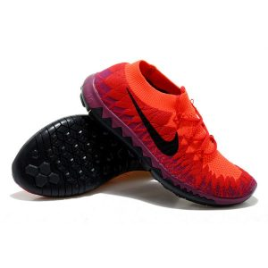 евтини nike free 3.0 flyknit дамски обувки за бягане черно бяло за продажба