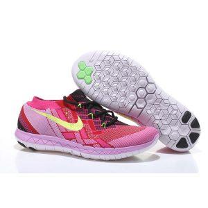 евтини nike free 3.0 flyknit дамски обувки за бягане праскова флуоресцентно зелено навън