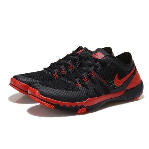 евтини nike free 3.0 v3 flywire мъжки обувки за бягане черни червени на едро