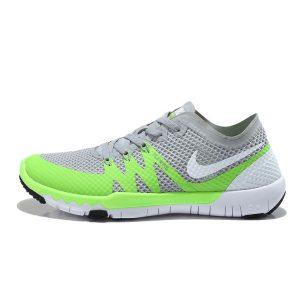 евтини nike free 3.0 v3 flywire мъжки обувки за бягане сиво флуоресцентно зелено за продажба