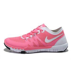 евтини nike free 3.0 v3 flywire дамски обувки за бягане розово бяло на едро