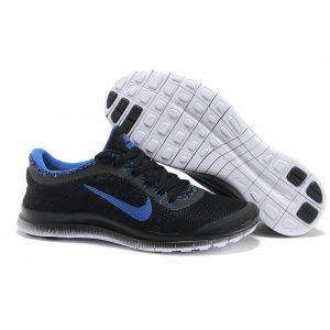 евтини nike free 3.0 v6 мъжки обувки за бягане черно кралско синьо продажба