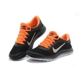 евтини nike free 3.0 v6 дамски обувки за бягане черно оранжево за продажба