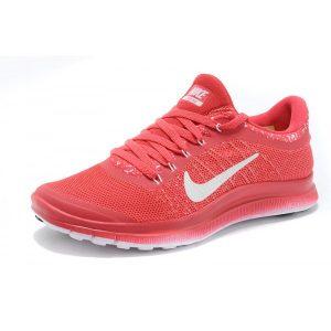 евтини nike free 3.0 v6 дамски обувки за бягане червено бяло разпродажба