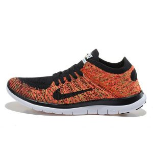 евтини nike free 4.0 flyknit мъжки обувки за бягане черно оранжево на пазара