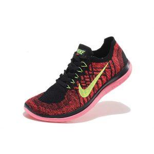 евтини nike free 4.0 flyknit мъжки обувки за бягане черно розово оранжево за продажба