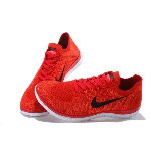 евтини nike free 4.0 flyknit мъжки обувки за бягане черни червени изход продажба