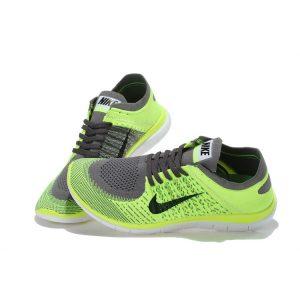 евтини nike free 4.0 flyknit мъжки обувки за бягане въглеродно сиво флуоресцентно зелено продажба
