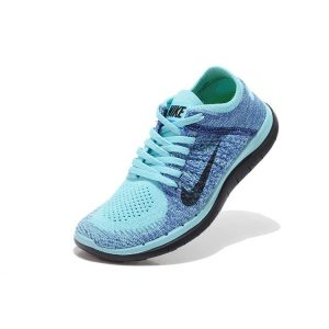 евтини nike free 4.0 flyknit дамски обувки за бягане черно синьо аутлет