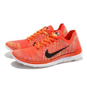 евтини nike free 4.0 flyknit дамски обувки за бягане оранжево бяло outlet
