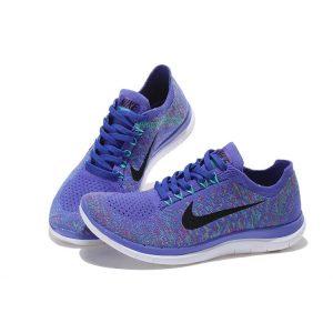 евтини nike free 4.0 flyknit дамски обувки за бягане лилаво черно продажба