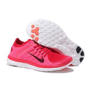 евтини nike free 4.0 flyknit дамски обувки за бягане червено черно за продажба