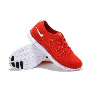 евтини nike free 5.0 flyknit мъжки обувки за бягане червено бяло за продажба