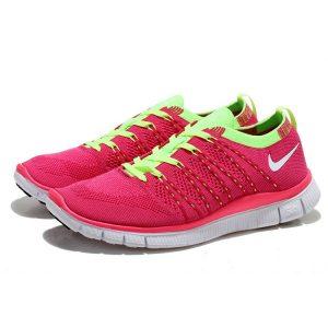 евтини nike free 5.0 flyknit дамски обувки за бягане розово бяло на едро