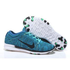 евтини nike free 5.0 flyknit дамски обувки за бягане кралско синьо черно за продажба