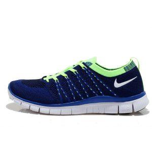 евтини nike free 5.0 flyknit дамски обувки за бягане кралско синьо зелено за продажба
