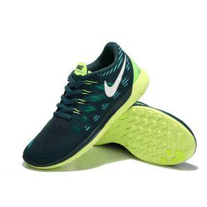 евтини nike free 5.0 мъжки обувки за бягане синьо флуоресцентно жълто излаз продажба