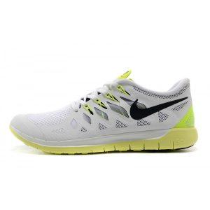 евтини nike free 5.0 мъжки обувки за бягане бяло флуоресцентно жълто за продажба