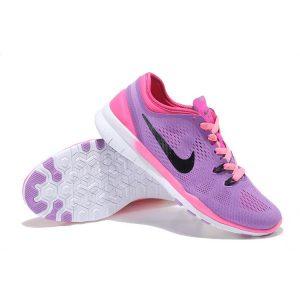 евтини nike free 5.0 v2 тренировъчни женски обувки за бягане черно розово бяло за продажба