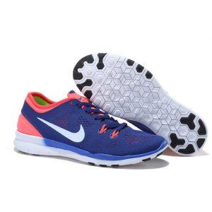 евтини nike free 5.0 v2 тренировъчни женски обувки за бягане розово синьо бяло за продажба