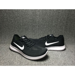 евтини nike free run flyknit 2017 мъжки обувки черно бяло