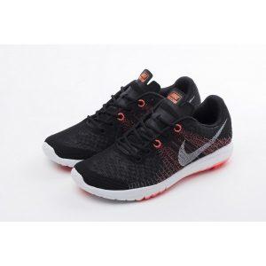 евтини nike flex series дамски обувки за бягане черно оранжево на едро