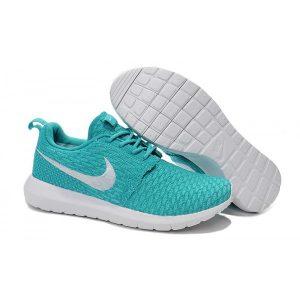 евтини nike roshe run дамски обувки за бягане синьо бяло на едро