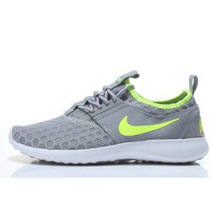евтини nike zenji дамски обувки за бягане сиво флуоресцентно зелено за продажба