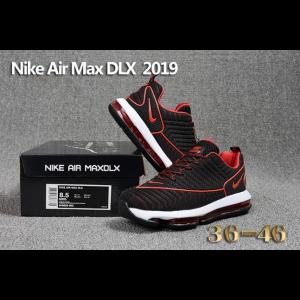 отстъпка nike air max dlx 2019 мъжки обувки черно бяло червено