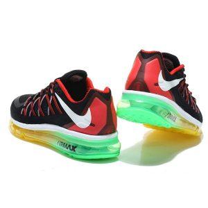 nike air max 2015 мъжки обувки за бягане черни червени зелени на едро