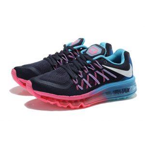 nike air max 2015 дамски обувки за бягане синьо розово нефрит на едро