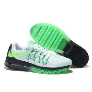евтини nike air max 2015 дамски обувки за бягане черно бяло флуоресцентно зелено продажба