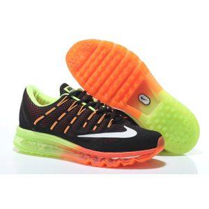 nike air max 2016 мъжки обувки за бягане черно оранжево флуоресцентно зелено на едро