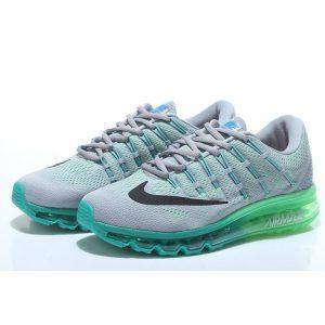 nike air max 2016 мъжки обувки за бягане сиви зелени на едро