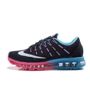 nike air max 2016 дамски обувки за бягане розово черно синьо на едро
