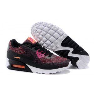 nike air max 90 мъжки обувки за бягане черно розово оранжево на едро