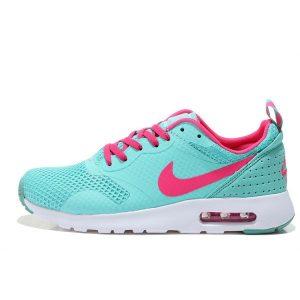 nike air max thea print 2 дамски обувки за бягане синя праскова на едро