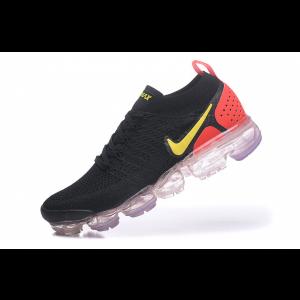 nike air vapormax flyknit 2.0 дамски обувки черни червени аутлет