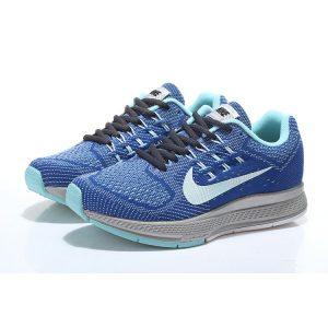 nike air zoom structure 18 женски обувки за бягане черно кралско синьо сребърно продажба
