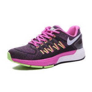 nike air zoom structure 20 женски обувки за бягане лилаво черно флуоресцентно зелено продажба
