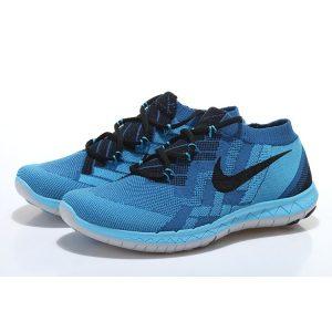 nike free 3.0 flyknit мъжки обувки за бягане сини на едро