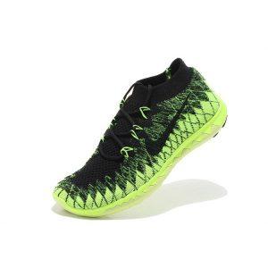 nike free 3.0 flyknit мъжки обувки за бягане черно флуоресцентно зелено на едро